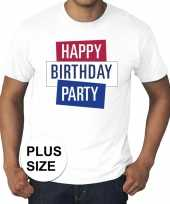 Toppers grote maten wit toppers happy birthday party t-shirt officieel