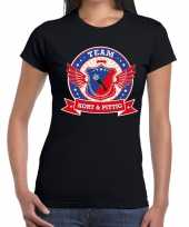 Toppers zwart kort pittig team t-shirt dames