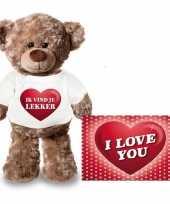 Valentijn valentijnskaart knuffelbeer 24 ik vind je lekker shirt