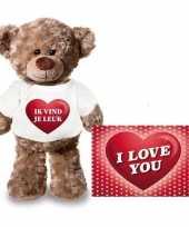 Valentijn valentijnskaart knuffelbeer 24 ik vind je leuk shirt