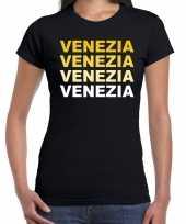 Venezia venetie t-shirt zwart dames