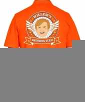 Willems drinking team poloshirt oranje heren