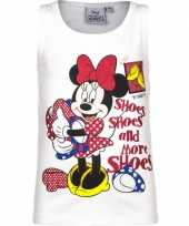 Wit mouwloos minnie mouse shirt