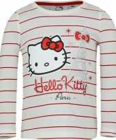 Wit rood shirt hello kitty