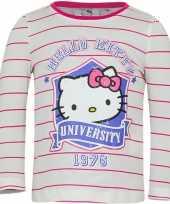 Wit roze shirt hello kitty