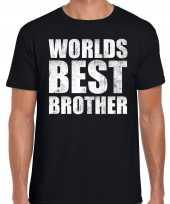 Worlds best brother cadeau t-shirt zwart heren