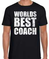 Worlds best coach werelds beste coach cadeau t-shirt zwart heren