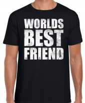 Worlds best friend cadeau t-shirt zwart heren