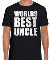 Worlds best uncle oom cadeau t-shirt zwart heren