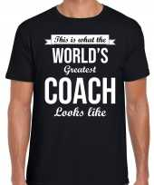 Worlds greatest coach cadeau t-shirt zwart heren