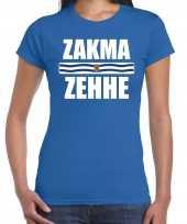 Zakma zehhe vlag zeeland t-shirts zeeuws dialect blauw dames
