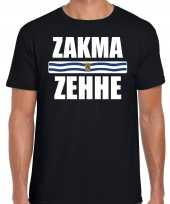 Zakma zehhe vlag zeeland t-shirts zeeuws dialect zwart heren