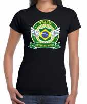 Zwart brazil drinking team t-shirt dames