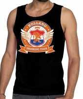 Zwart holland drinking team tankop mouwloos shirt heren