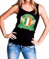 Zwart ireland drinking team tanktop mouwloos shirt dames