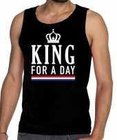 Zwart king for a day tanktop mouwloos shirt heren