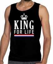 Zwart king for life tanktop mouwloos shirt voor