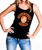 Zwart sons of willem tanktop mouwloos shirt dames