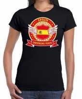 Zwart spain drinking team t-shirt dames