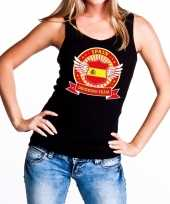 Zwart spain drinking team tanktop mouwloos shirt dames