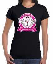 Zwart vrijgezellen drinking team t-shirt dames